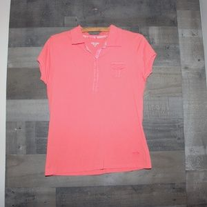Oleg Cassini Sport Orange Shirt Women's Medium